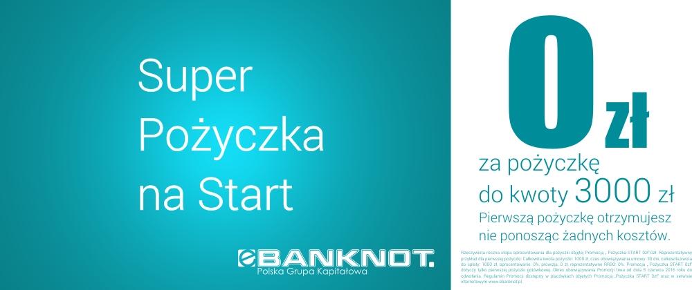 Superszybka Pożyczka na start - 0 zł do 3000 zł za darmo!