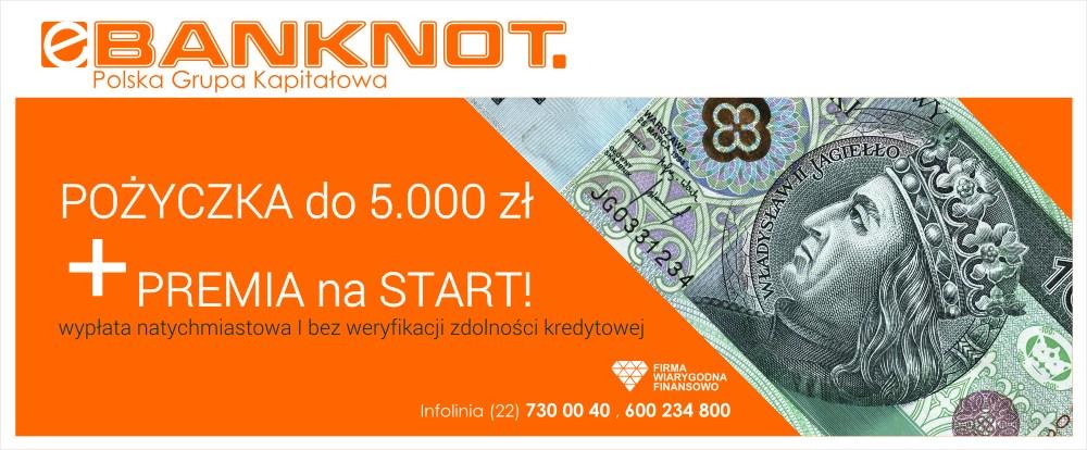 Specjalna oferta eBanknot dla Nowego Klienta - Pożyczka z premią.