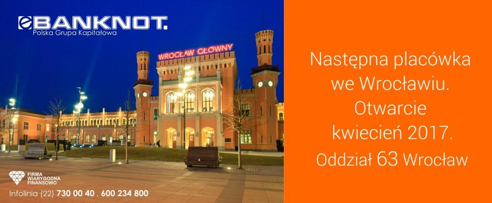 99f852171 Następna placówka eBanknot we Wrocławiu - Otwarcie jeszcze w ...